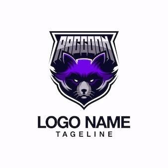 Design de logotipo de guaxinim