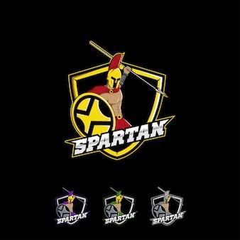 Design de logotipo de guerreiro espartano