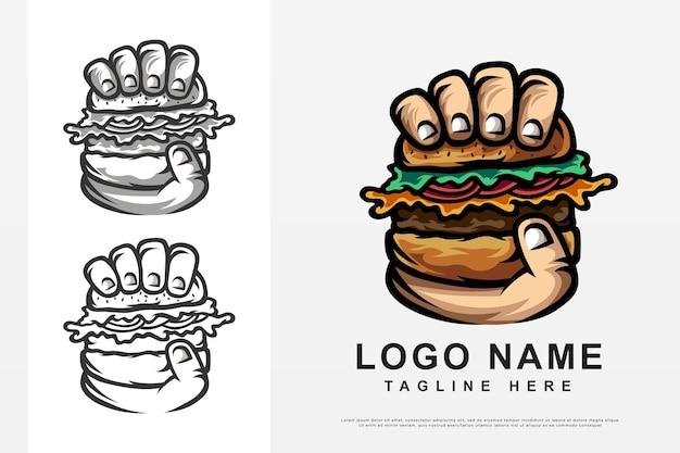 Design de logotipo de hambúrguer