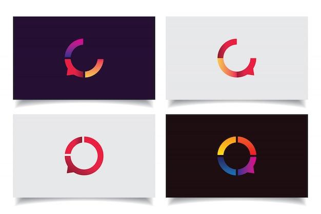 Design de logotipo de ícone de bate-papo