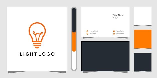 Design de logotipo de ideia criativa e cartão de visita