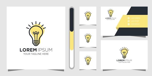 Design de logotipo de ideia criativa e cartão de visita.