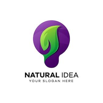 Design de logotipo de ideia natural
