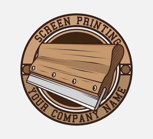 Design de logotipo de impressão de tela