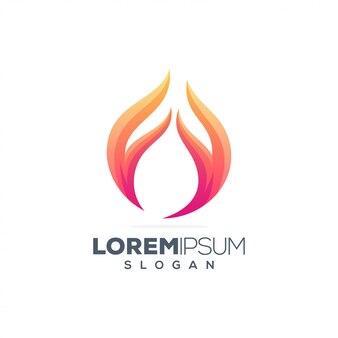 Design de logotipo de inspiração de fogo