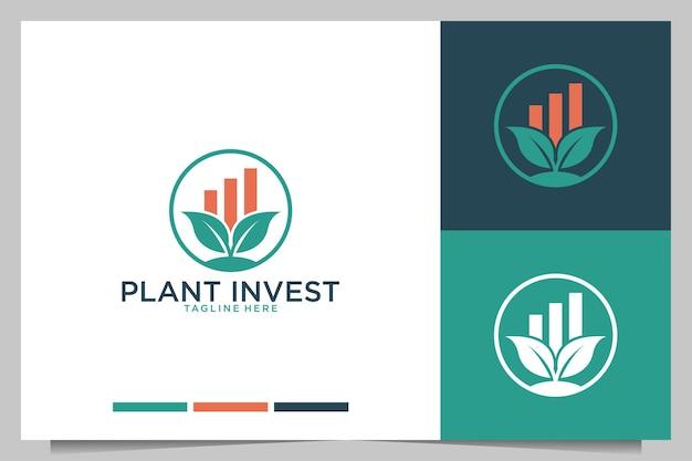 Design de logotipo de investimento da planta
