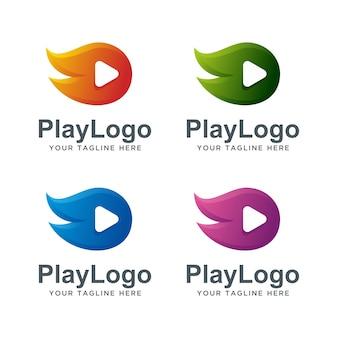 Design de logotipo de jogo rápido