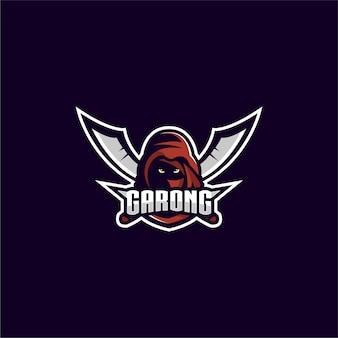Design de logotipo de jogos assassino