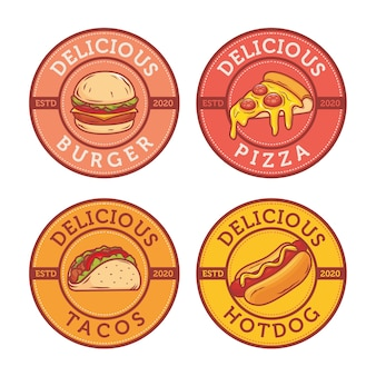 Design de logotipo de lanche fast food