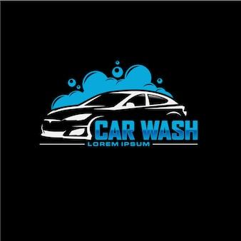 Design de logotipo de lavagem de carro automático