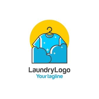 Design de logotipo de lavanderia