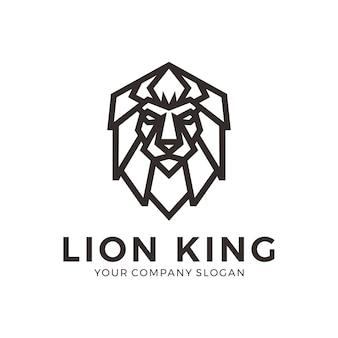 Design de logotipo de leão geométrica