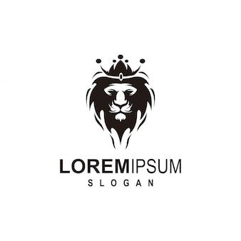 Design de logotipo de leão preto