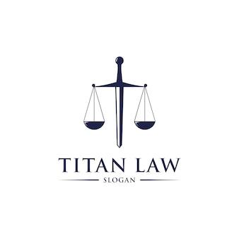 Design de logotipo de lei de titã