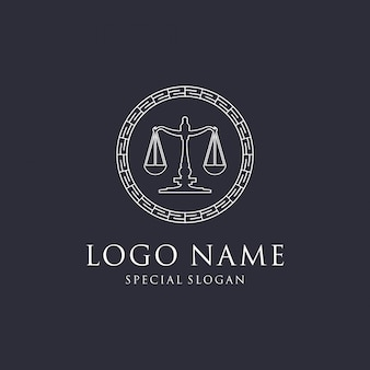 Design de logotipo de lei