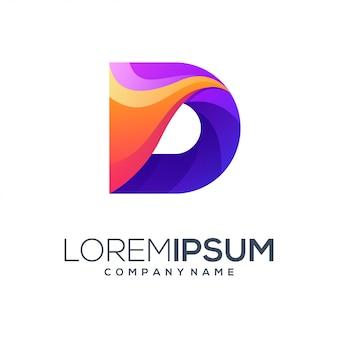 Design de logotipo de letra d