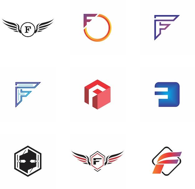 Design de logotipo de letra f para empresa