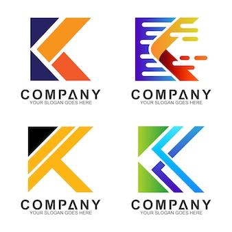 Design de logotipo de letra inicial k negócios