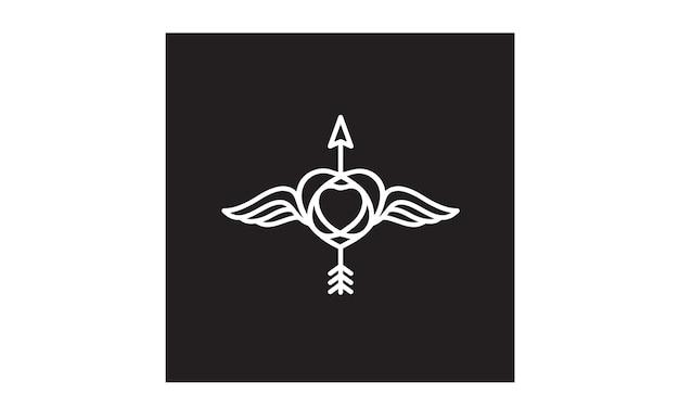 Design de logotipo de liberdade hipster