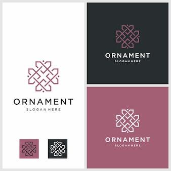 Design de logotipo de linha arte ornamento