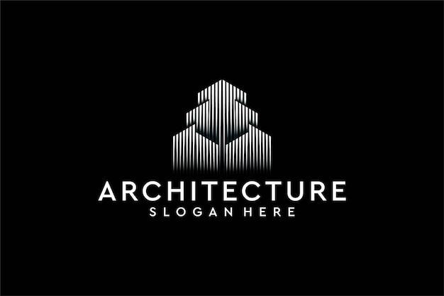 Design de logotipo de linha de arquitetura