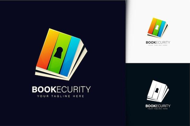 Design de logotipo de livro e segurança