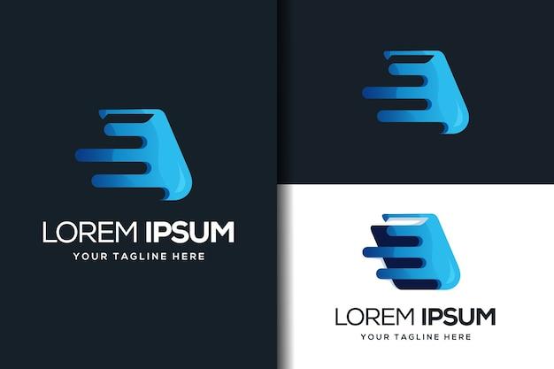Design de logotipo de livro moderno