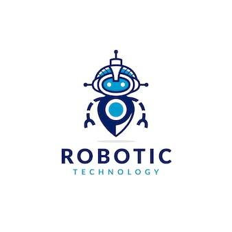 Design de logotipo de localizador de robô