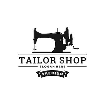 Design de logotipo de loja de alfaiate vintage
