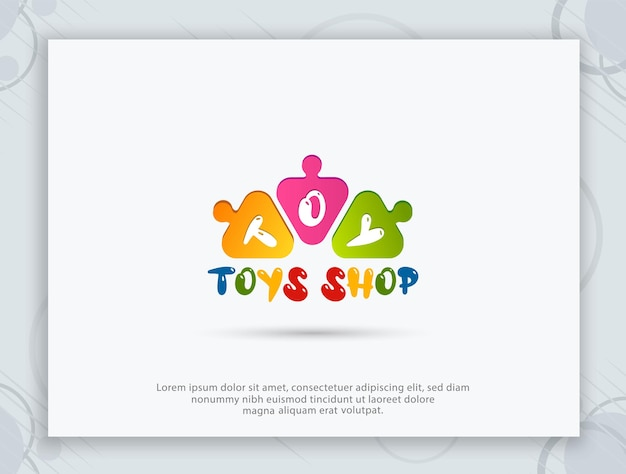 Design de logotipo de loja de brinquedos