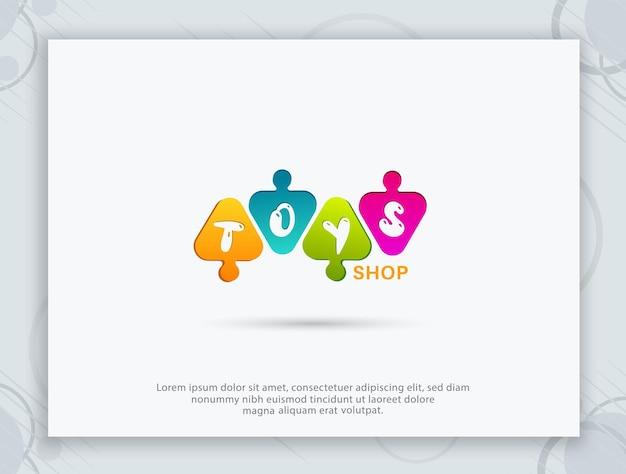 Design de logotipo de loja de brinquedos Vetor Premium