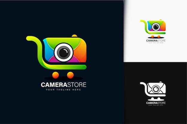 Design de logotipo de loja de câmera gradiente colorido