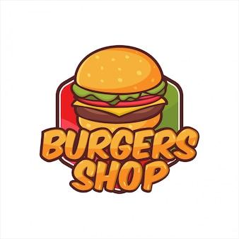 Design de logotipo de loja de hambúrguer