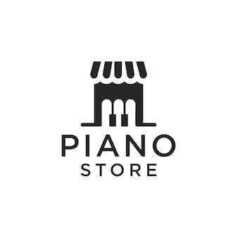 Design de logotipo de loja de piano