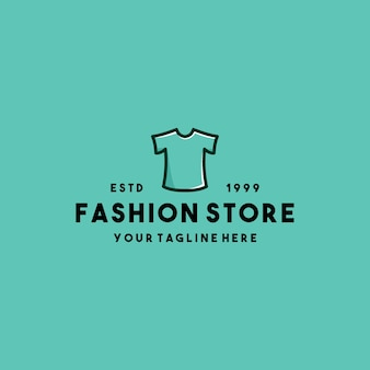 Design de logotipo de loja de roupas de moda criativa
