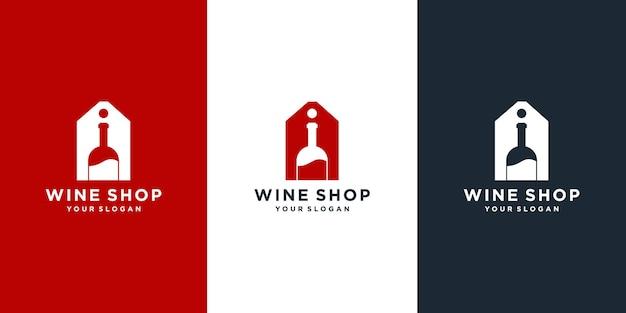 Design de logotipo de loja de vinhos
