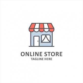 Design de logotipo de loja online.