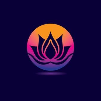Design de logotipo de lótus de beleza