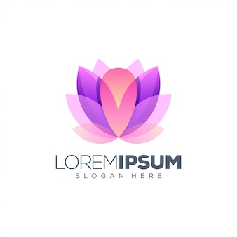 Design de logotipo de lótus pronto para uso