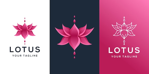 Design de logotipo de lótus