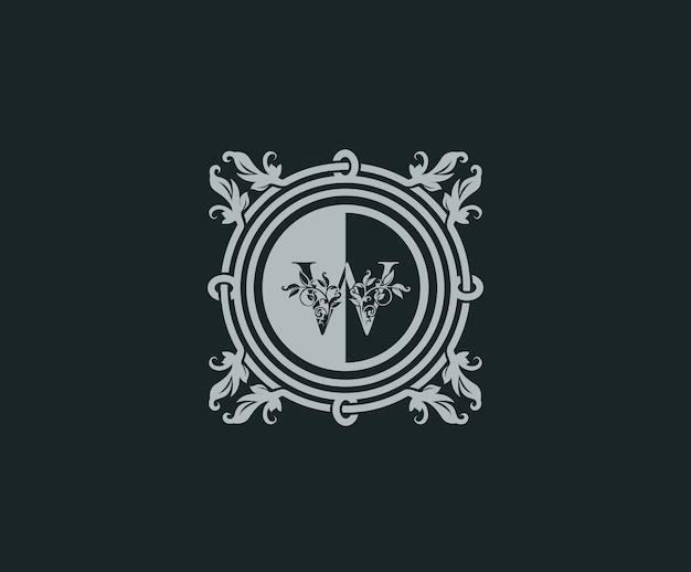 Design de logotipo de luxo com w inicial