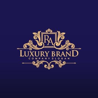 Design de logotipo de luxo dourado ilustração vetorial
