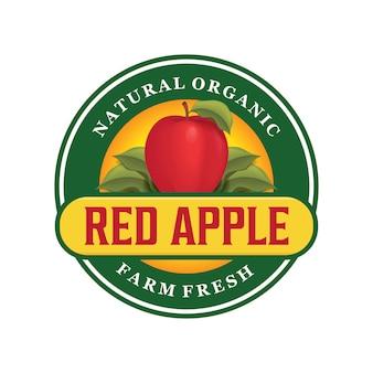 Design de logotipo de maçã vermelha