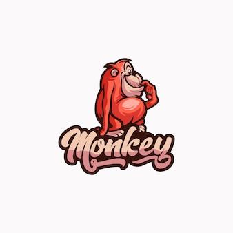 Design de logotipo de macaco
