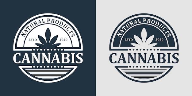 Design de logotipo de maconha maconha