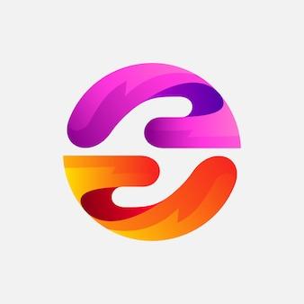 Design de logotipo de mão para presente ou caridade