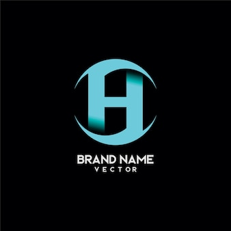Design de logotipo de marca de letra h abstrata