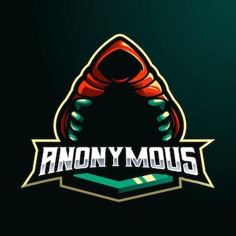 Design de logotipo de mascote anônimo