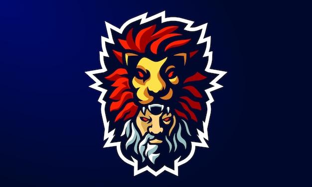 Design de logotipo de mascote da viking esports