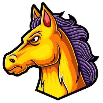 Design de logotipo de mascote de cavalo